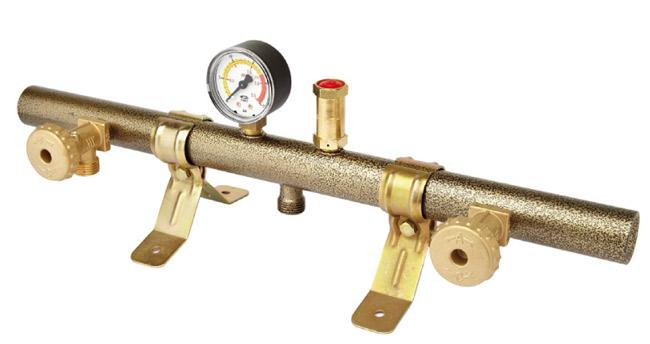 Collegare il serbatoio di pressione